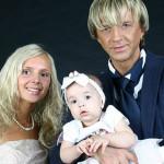Роман и Елена Жуковы со старшей дочерью в молодости