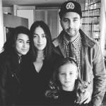 С дочерьми Эрикой, Ниной и женой Натальей