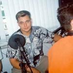 Сергей Жуков на радио в начале карьеры