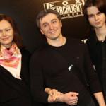 Сергей с бывшей женой и ее сыном от первого брака
