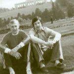 С Александром Гусевым в Австрии 1977 год