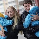 Супруги с близнецами