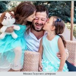 Михаил Галустян с дочерьми
