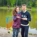 На рыбалке с мужем