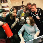Беременная Ольга Литвинова с друзьями