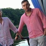 Дмитрий с сыном от первого брака