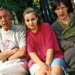 Евгения с Олегом и Михаилом Ефремовыми