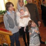 На крестинах младшей дочери