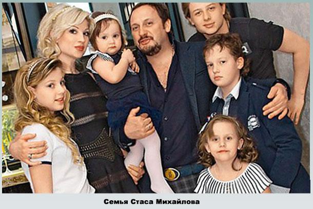Михайлов с женой и детьми