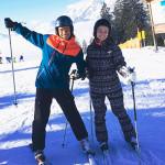 Лиза и Максим на лыжном курорте