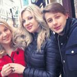 Инна Михайлова с детьми от первого брака
