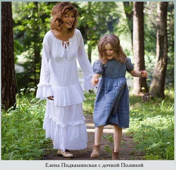 Елена Подкаминская с дочкой Полиной
