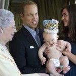 Елизавета с Кейт Мидлтон, принцем Чарльзом и их сыном