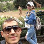 С супругой в зоопарке