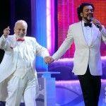На сцене с отцом