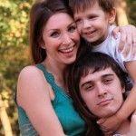 С женой Юлией и сыном Марком
