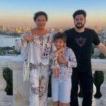 Анна с мужем и сыном