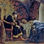 Царь любуется на свою жену Василису
