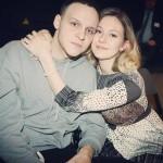 Яна Гладких с мужем