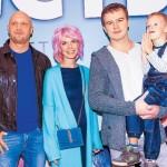 Анна с мужем и ребенком