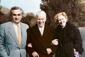 Супруги со знаменитым Чарли Чаплиным