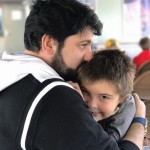 С сыном Тьяго