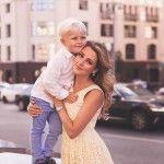 Михайловская с сыном