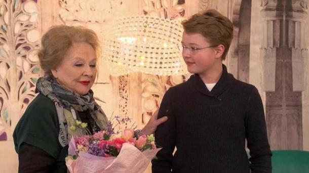Зелинская с внуком
