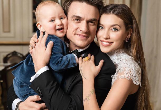 Регина с мужем и сыном