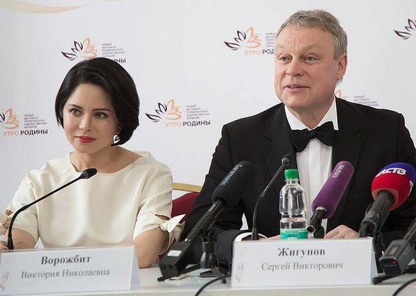 Сергей и Виктория на пресс-конференции