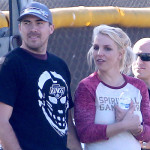 Britney Spears lets out a Big Yawn during Son's Soccer Game