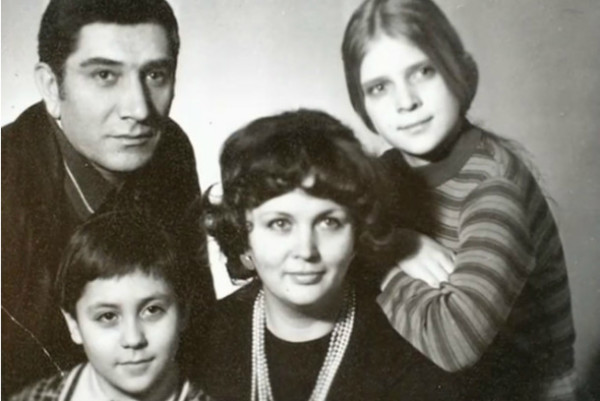Семейное фото с первой женой